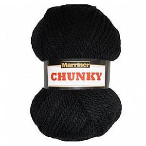 Marriner Super Chunky Yarn Black 100g