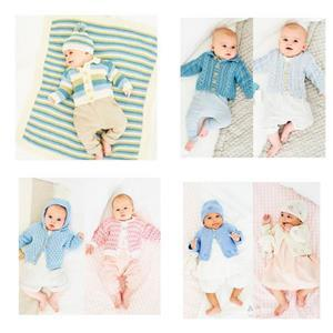 Baby DK Knitting Patterns Stylecraft Naturals Bamboo and Cotton: Pack of Four