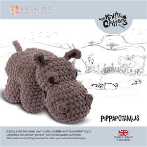 Knitty Critters Pippa Hippopotamus Kit