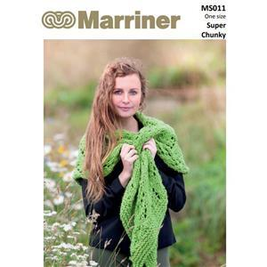 Marriner Apple Green Lacy Knit Shawl Kit