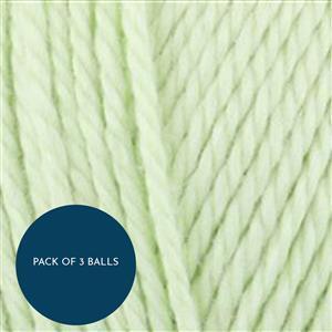 King Cole Celery Cottonsoft DK 100g: Pack of 3 Balls
