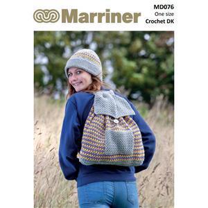 Marriner Silver Crochet Hat and Rucksack  Kit