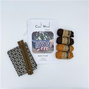 Cool Wool Designs Gold/Brown Retro Purse Kit