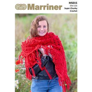 Marriner Red Crochet Shawl Kit