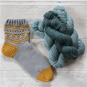 Anna Nikipirowicz Green Totton Crochet Socks