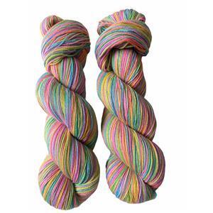 Twink Knits Pastel Rainbow Sparkle 4 ply yarn 100g hank