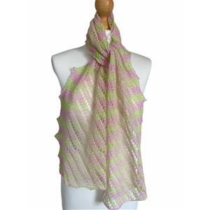 Twink Knits Spring Bouquet Raindrops and Roses Laceweight Scarf Kit