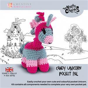 Knitty Critters Pocket Pals Candy Unicorn Kit