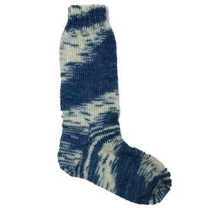 In The Wool Shed Shibori Indigo Sock Yarn 100g Hank and Sock Pattern Kit