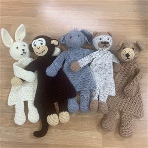 Patons Natural Animals Flat Toys Crochet Kit