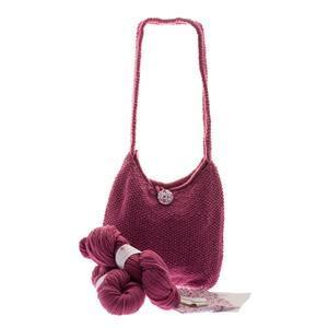 Woolly Chic Raspberry Shoulder Bag Knitting Kit