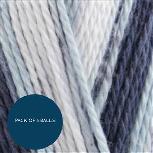 King Cole Bluebell Cottonsoft Crush DK 100g: Pack of 3 Balls