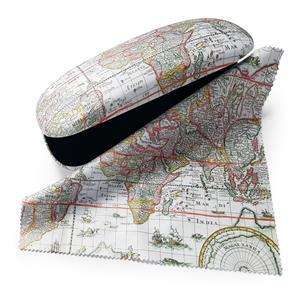 Map Of The World Glasses Case and Lens Cloth