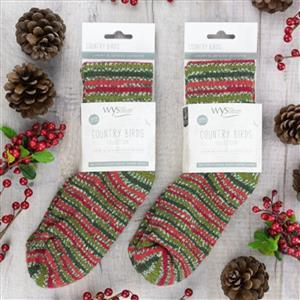 YARN LANE LOVES: WYS Holly Berry Bluefaced Leicester Luxury Socks: size 9-11