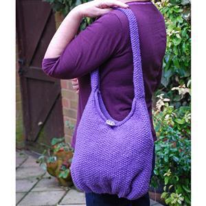 Woolly Chic Purple Shoulder Bag Knitting Kit