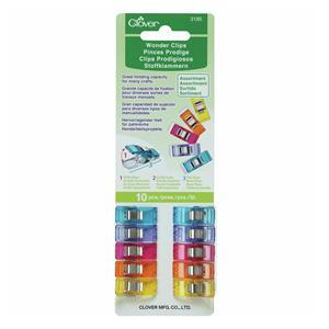 10 Multi Coloured Clover Wonder Clips