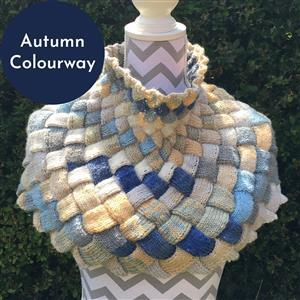 Cool Wool Designs Autumn Entrelac Shaped Cowl Knitting Kit