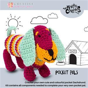 Knitty Critters Pocket Pals Fig Sausage Dog Kit