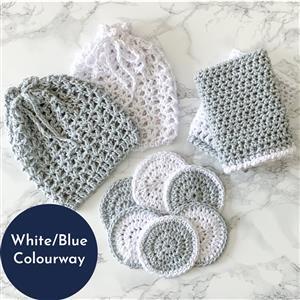 The Crafty Co. White/Blue Wash Set Kit