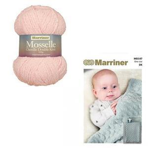 Marriner Pink Floss Cob Nut Baby Blanket Kit