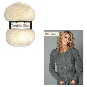 Marriner Cream Ladies Long Line Cardigan Kit