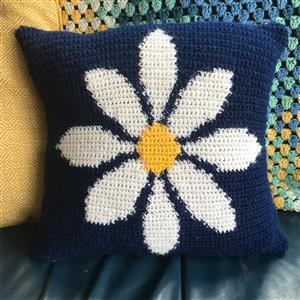 Adventures in Crafting Daisy Tapestry Crochet Cushion Kit