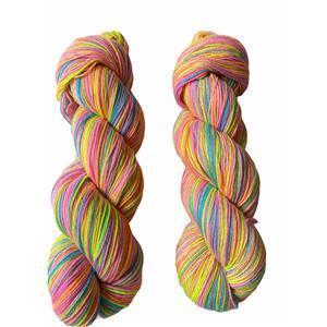 Twink Knits Bright Rainbow Sparkle 4 ply yarn 100g hank