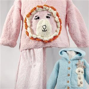 Marriner  Lion Baby Hooded Cardigan/Sweater Kit