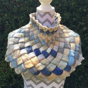 Cool Wool Designs Harmony Entrelac Shaped Cowl Knitting Kit