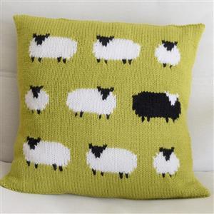 Iknit Designs Green Aran Flock of Sheep Cushion Kit