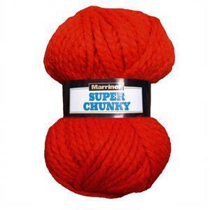 Super Chunky Yarn Red 100g