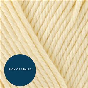 Stylecraft Buttermilk Naturals Bamboo+Cotton DK 100g: Pack of 3 Balls