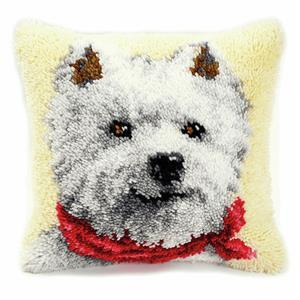 West Highland Terrier Latch Hook Cushion Kit