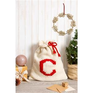Wool Couture Cream & Red Christmas Santa Sack Knitting Kit