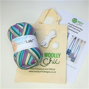Woolly Chic Purple Rain Small Cross-Body Handbag Knitting Kit