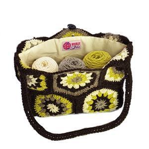 Woolly Chic Hexagon Handbag kit with presewn bag lining