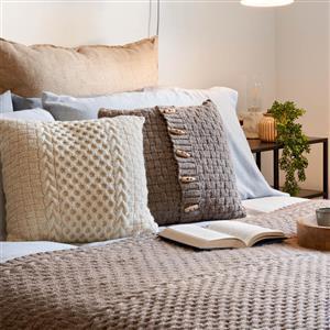Natural Home Honeycomb Cable Panel Cushion Yarn Pack