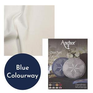 Carefree Moments Blue Crochet Cushion Kit Bundle