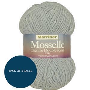 Marriner Pebble Mosselle Chenille Style DK 100g: Pack of 3 Balls