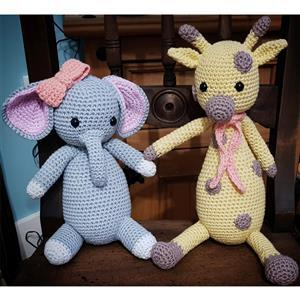 Elephant and Giraffe Crochet Yarn Pack