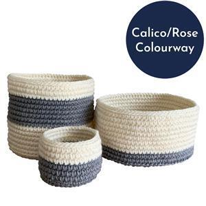 The Crafty Co. Calico/Rose Storage Basket Kit