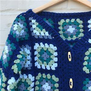 Adventures in Crafting Blue Skies Adult's Casual Granny Cardie Kit
